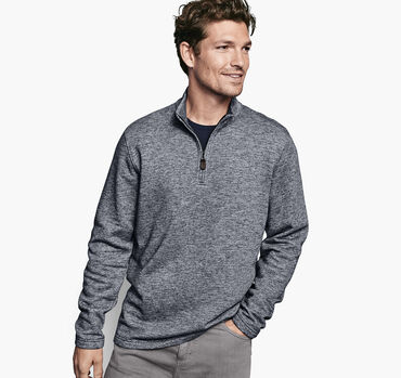 French Terry Knit Quarter-Zip
