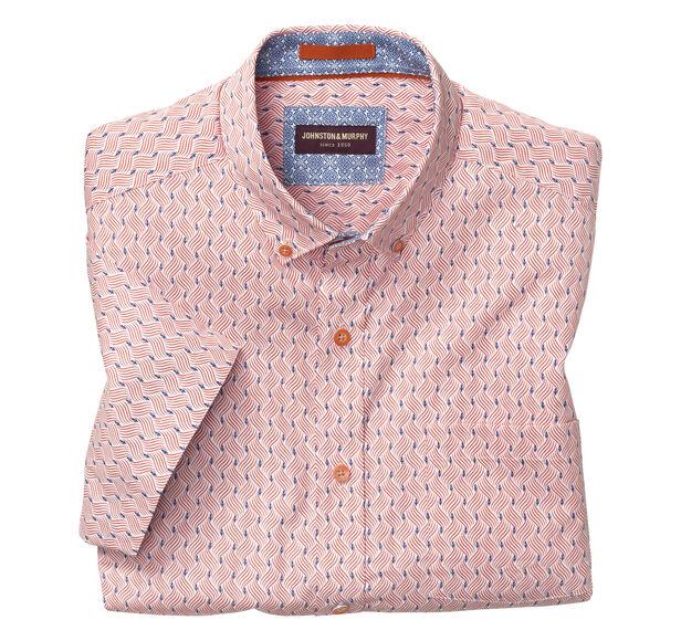 Wavy Lines Print Short-Sleeve Shirt