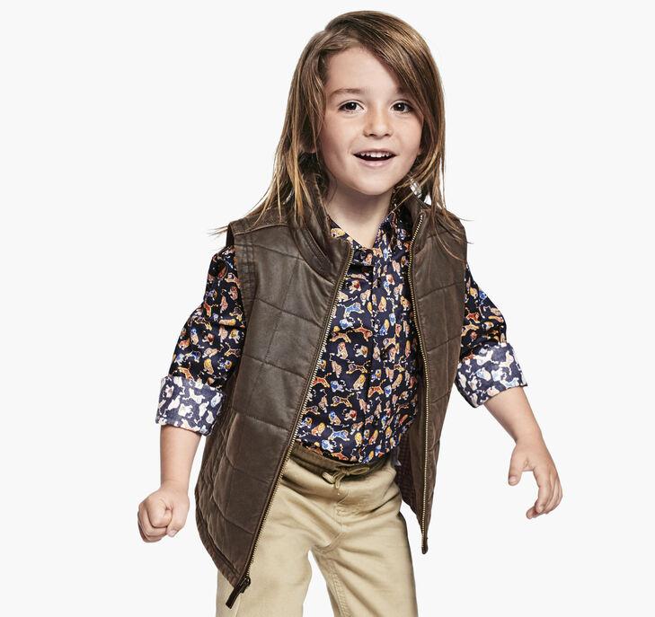 Boys Antiqued Cotton Vest preview