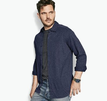 Knit Button-Front Shirt