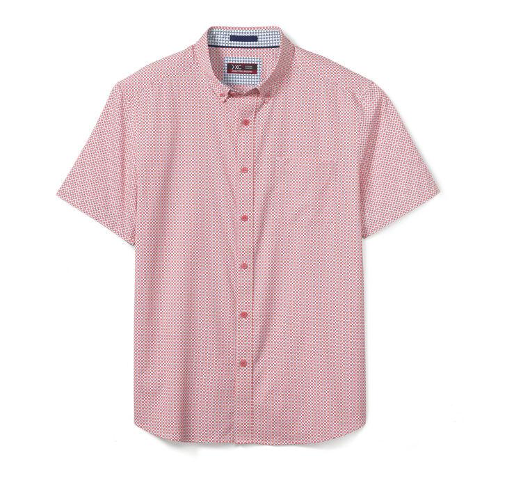 XC4® Medallion Dot Print Short-Sleeve Stretch Shirt