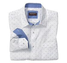 Accented Circle Clip-Pattern Shirt