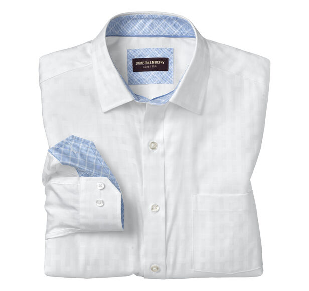 Tonal Basketweave Shirt
