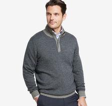 Jacquard Quarter-Zip Sweater