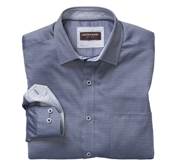 Reverse Micro Squares Neat Shirt