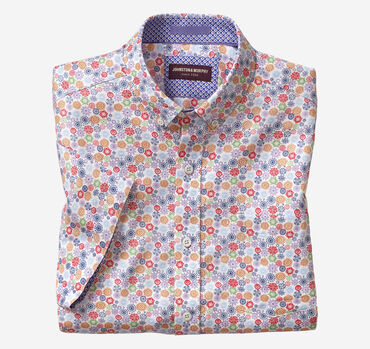 Flower Print Short-Sleeve Shirt