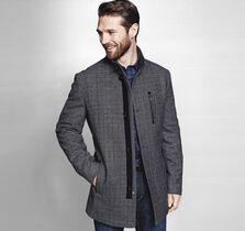Wool Plaid Top Coat