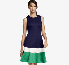 Colorblock Panel Dress