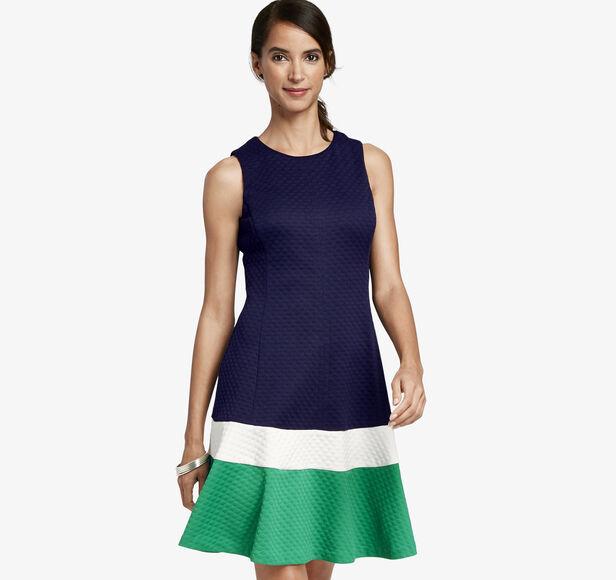 Colorblock Panel Dress