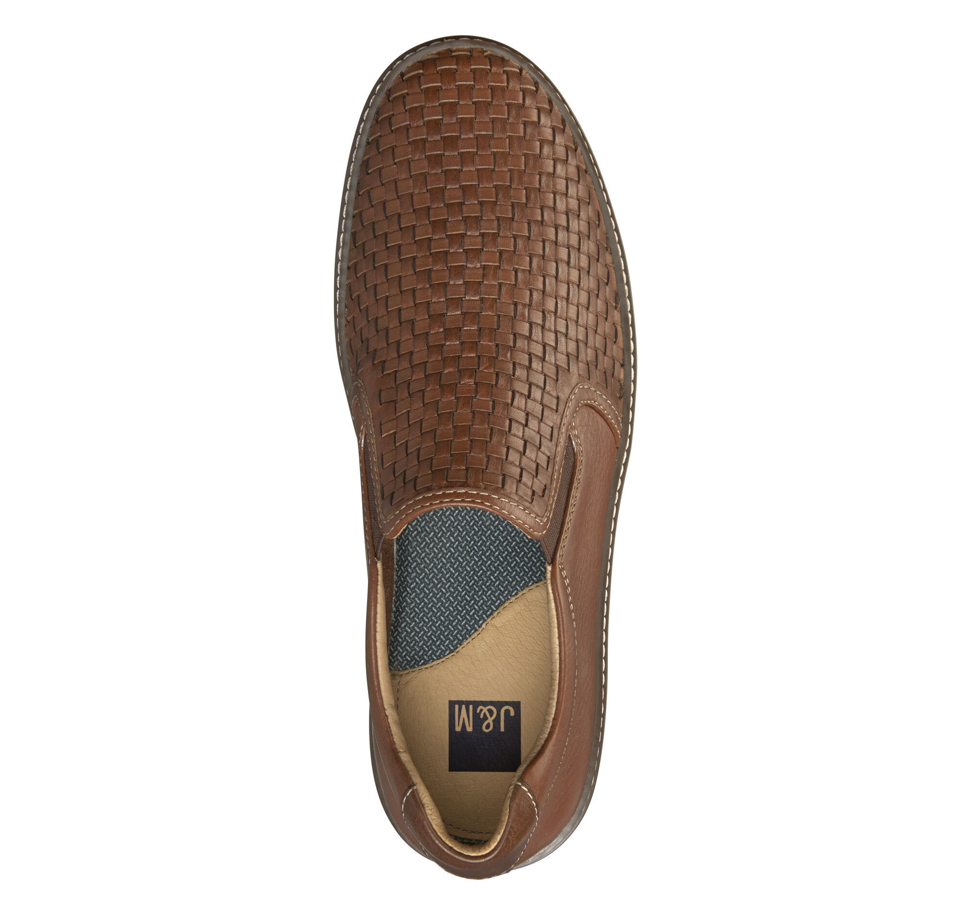 Mcguffey Woven Slip On Johnston Murphy D Island Shoes Casual England Suede Brown