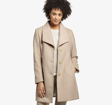 Diagonal Wool Coat