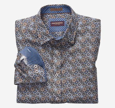Interlocked Gears Print Shirt
