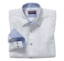 Diamond Slub Washed Linen Shirt