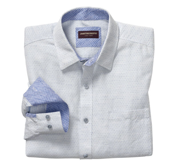 Diamond Slub Washed Linen Shirt