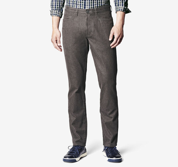 Slim-Fit Brushed Pima Cotton Five-Pocket Pant