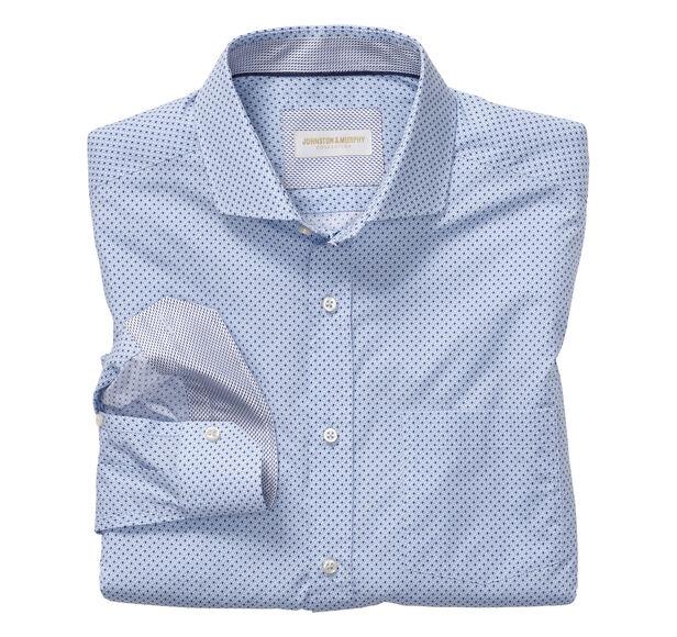 Italian Diamond Layered Print Dress Shirt