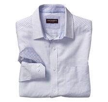 Raised Stripe Mini Check Shirt