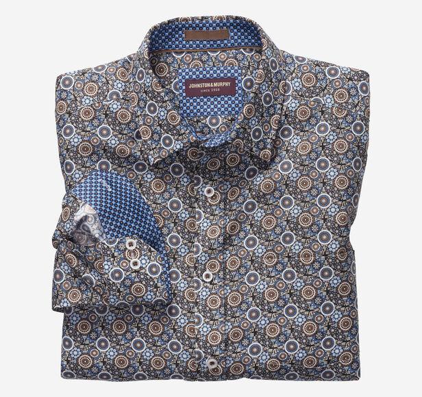 Interlocked Gears Print Shirt