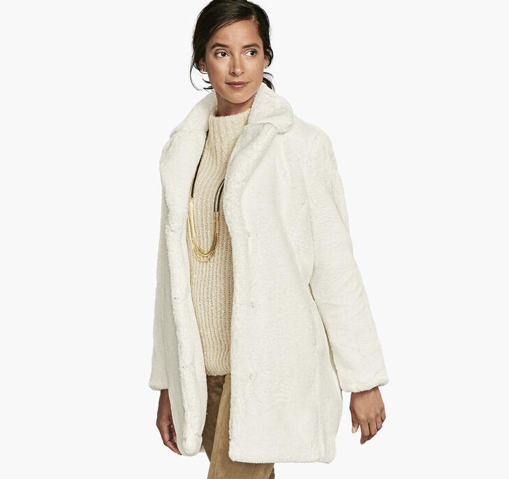 Long Faux-Fur Bunny Coat