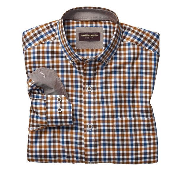 Button-Collar Gingham Shirt