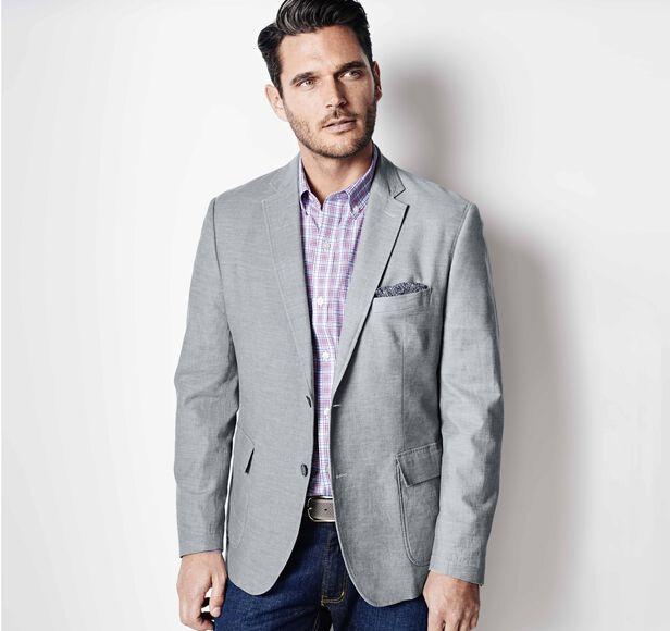 Linen-Blend Blazer Details | Tuggl