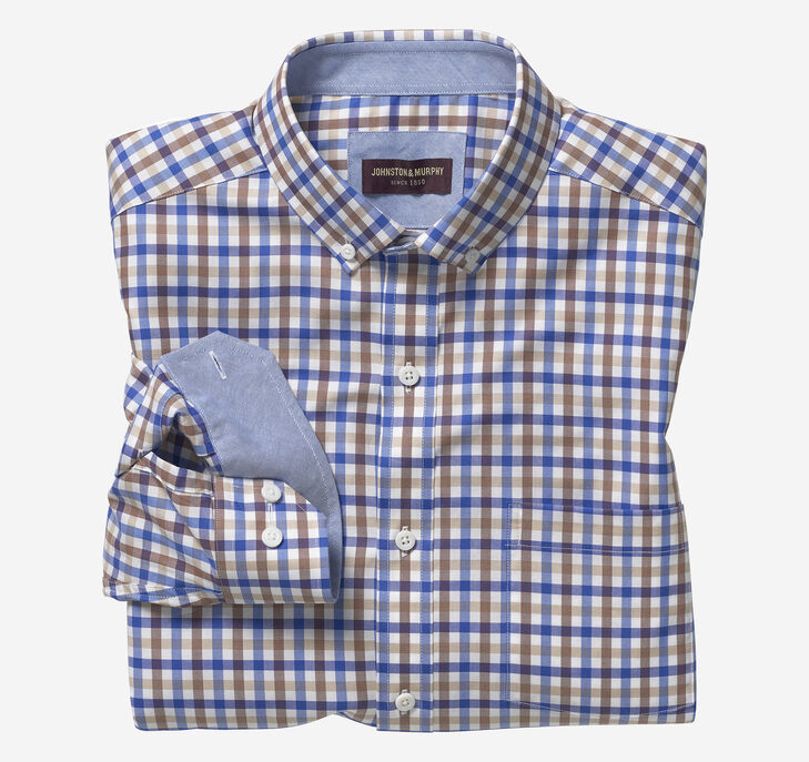 Button-Collar Cotton Shirt