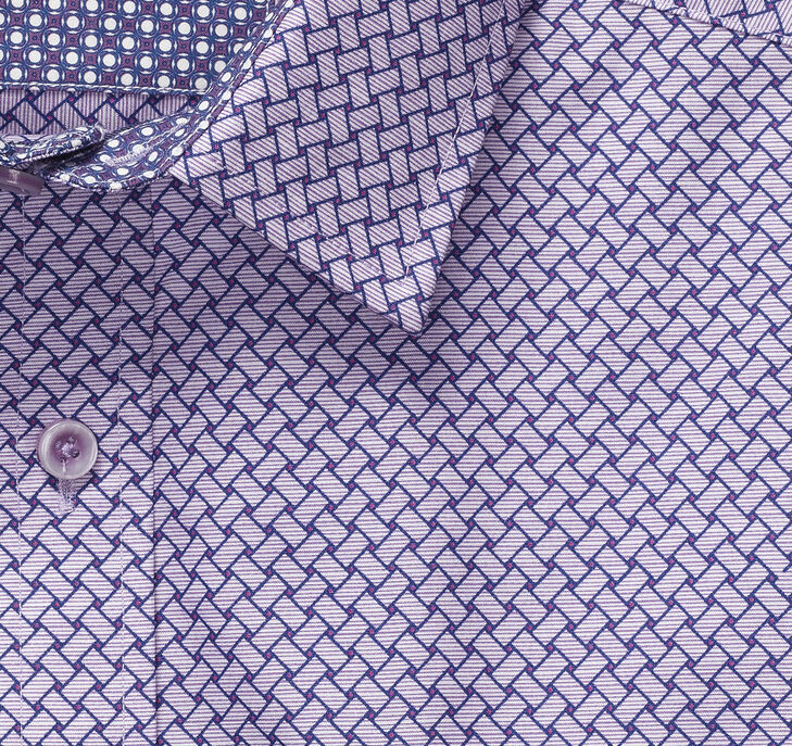 Basketweave Print Shirt