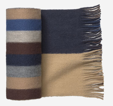 Reversible Multiple-Stripe Scarf