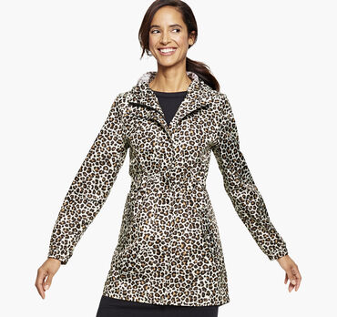 Packable Leopard Rain Jacket