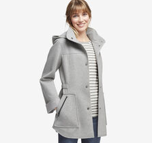 Heathered Knit Hooded Jacket