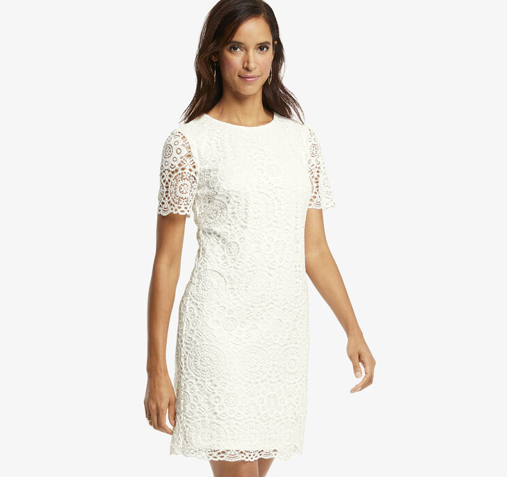 Short-Sleeve Lace Dress