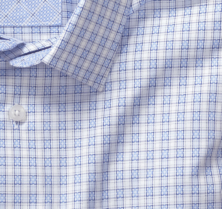 Collection Square Petal Grid European Dress Shirt
