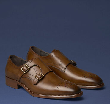 Cormac Double-Buckle Monk Strap