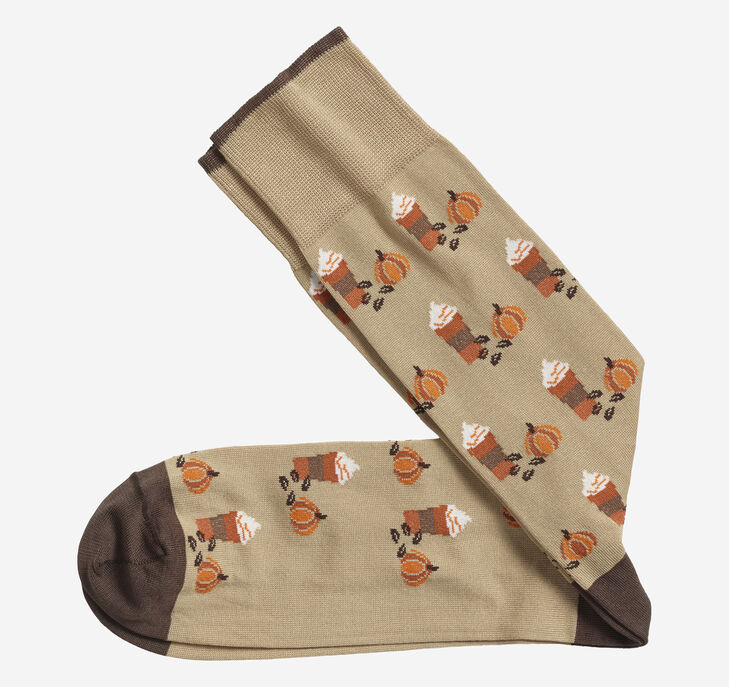 Pumpkin Spice Latte Socks