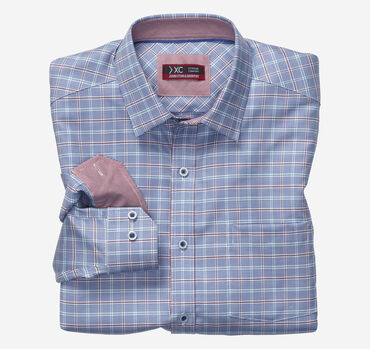 XC4 Framed Houndstooth Check Point-Collar Shirt