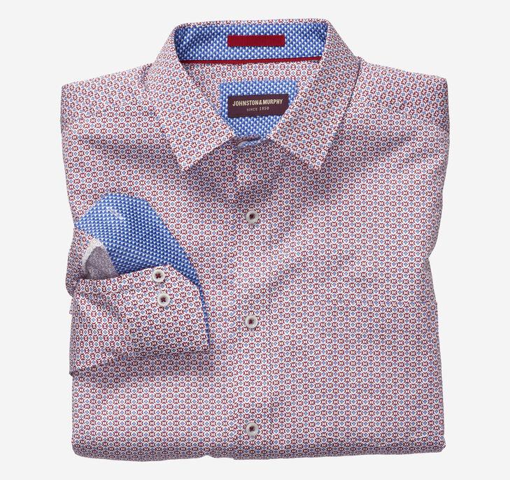 Centered Flower Print Shirt