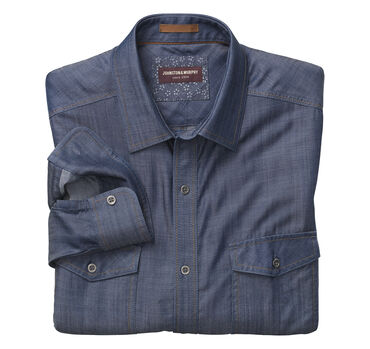 Double-Pocket Denim Shirt