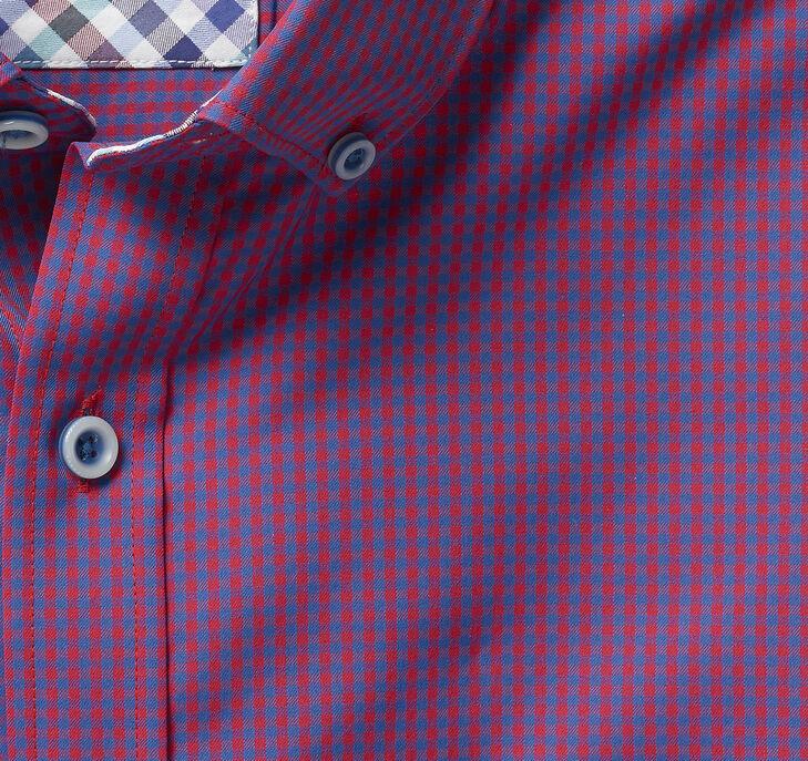 XC4® Micro Gingham Button-Collar Shirt