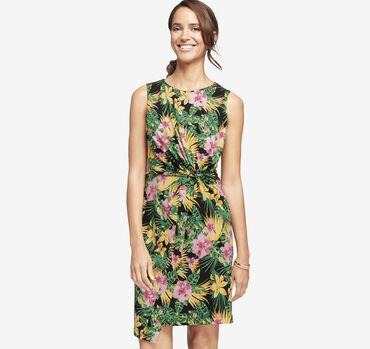 Knot-Waist Knit Dress