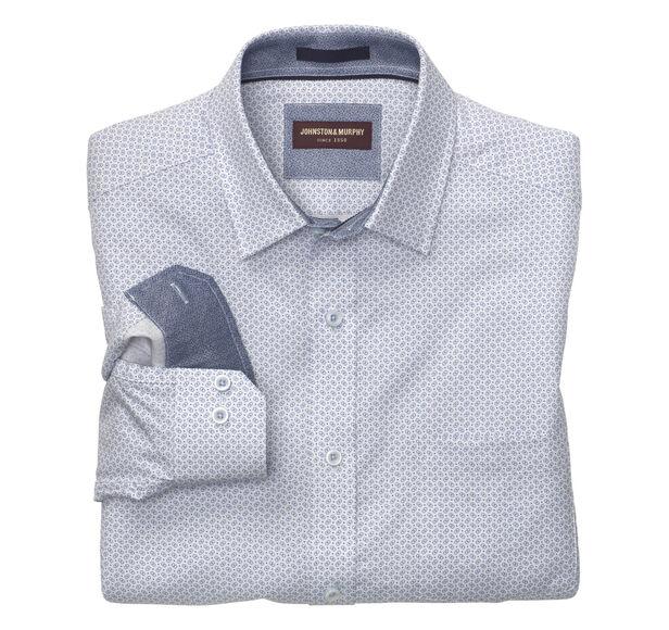 Floating Rectangle Dot Print Shirt