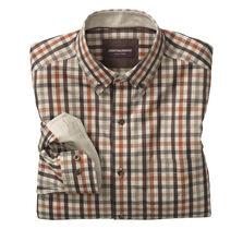 Heather Gingham Button-Collar Shirt