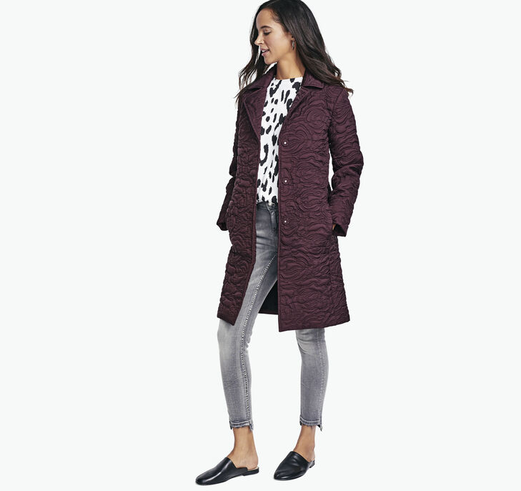 Rose-Quilted Jacket