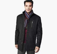 Diagonal Wool Car Coat