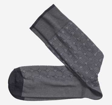 Heather Circle Grid Socks