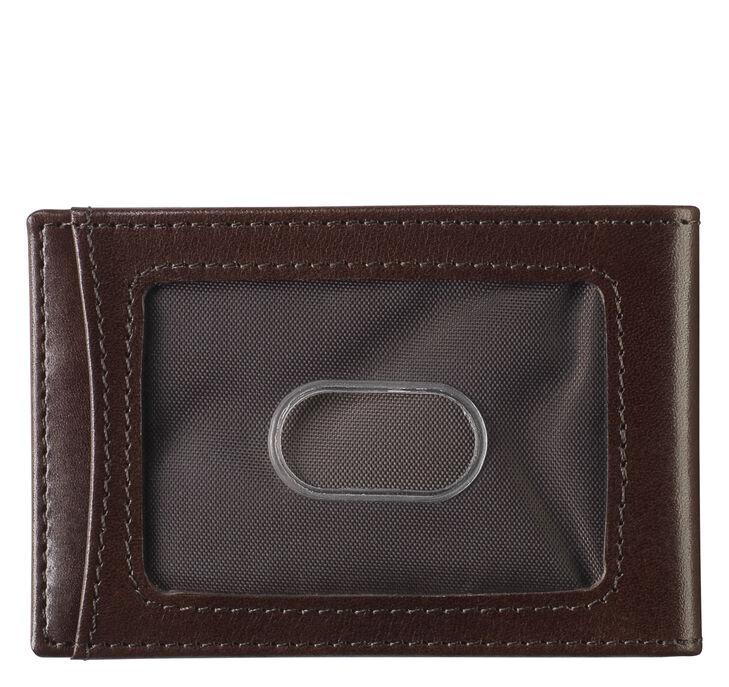Italian Leather Two-Fold Money Clip Wallet