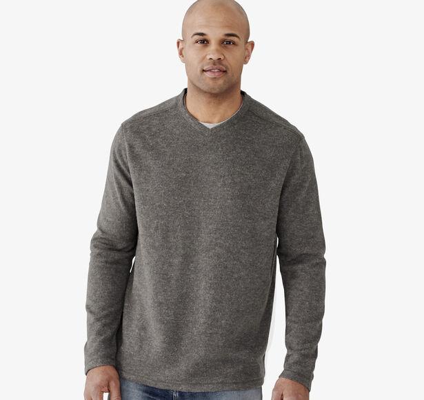 Long-Sleeve Plush V-Neck