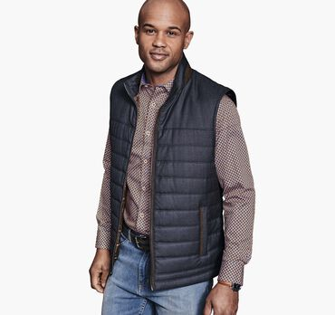 Quilted Heathered Vest