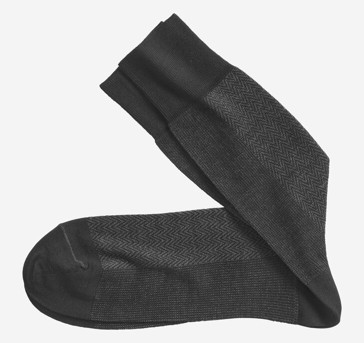 Herringbone Panel Socks