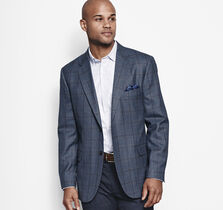 Windowpane Plaid Blazer