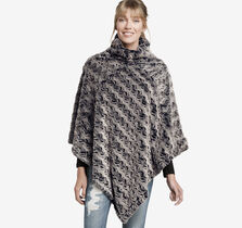 Reversible Faux-Chinchilla Poncho